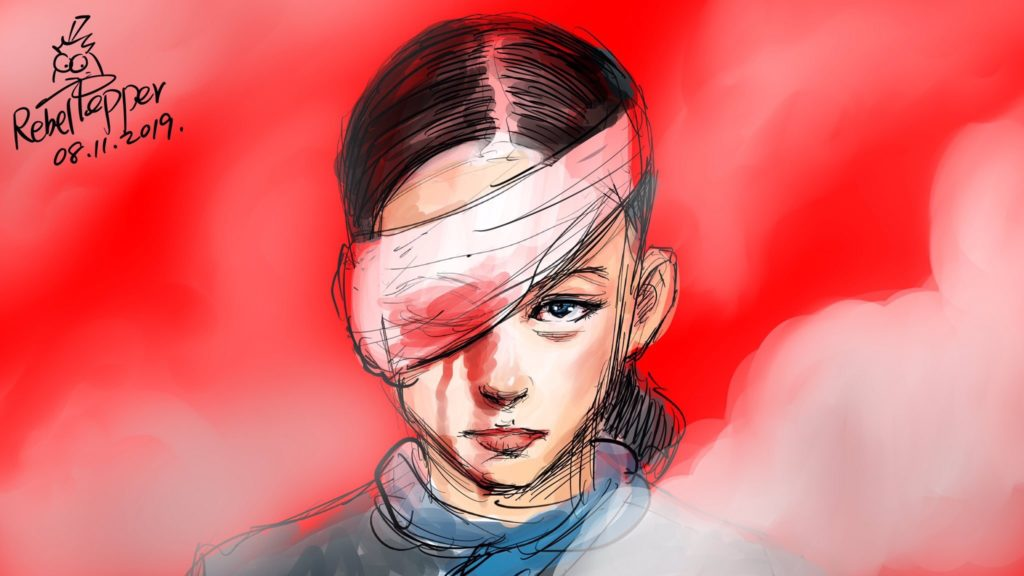 Artwork on Eye Patch incident